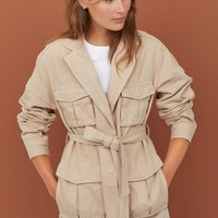 Twill Utility Jacket - Light beige - Ladies | H&M US