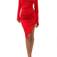 Side Ruched Body-con Dress (+ Colors)