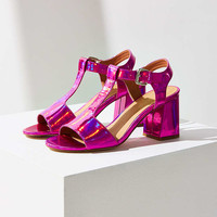Christy Pink T-Strap Heel - Urban Outfitters