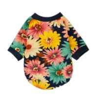 FurBaby Fashion Summer Floral Dog T-shirt for Pet Dog Clothes Cozy Apparel, X-small