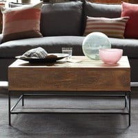 Rustic Storage Coffee Table