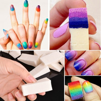 100 Pcs New Fashion Nail Art Sponge Transfer Kit Nail Sponge Clean Tool