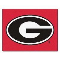 Georgia Bulldogs NCAA All-Star Floor Mat (34x45) G Logo on Red