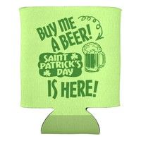 Saint Paddys Day Beer Humor Can Cooler
