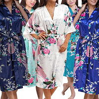 Medium Length Womens Robes - 2 to 18 - Floral Bride & Bridesmaid Robes