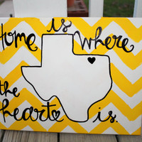 Home is Where the Heart is // Pick Your Own State!! // 11x14 inch canvas // MADE TO ORDER