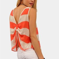Peppermint Top - Coral