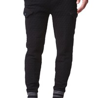 The New Standard Edition Quilted Cargo Jogger Pants - Mens Pants - Black