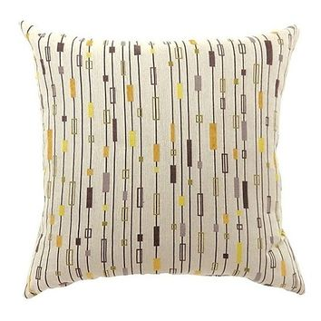 LINA Contemporary Big Pillow With fabric, Multicolor Finish, Set of 2
