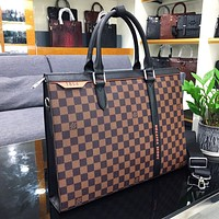 LV Louis Vuitton DAMIER CANVAS BRIEFCASE BAG CROSS BODY BAG