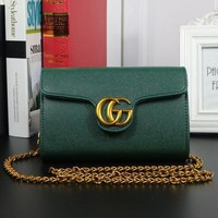 Gucci Women Shopping Fashion Leather Chain Satchel Shoulder Bag Crossbody G-MYJSY-BB