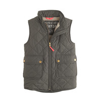 Girls' excursion quilted vest - puffer - Girl's jackets & outerwear - J.Crew