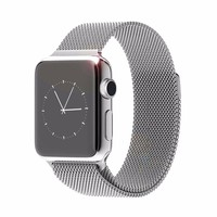 Luxury milanese loop watch strap for apple watch band 42mm Stainless Steel bracelet men watchband 38mm women wrist band Silver