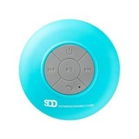 Showerdoordirect Waterproof Bluetooth Shower Speaker with Suction Cup in Blue WWBS-BU at The Home Depot - Mobile