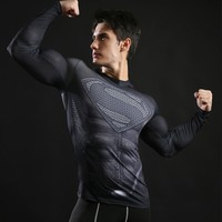 Charcoal Supes Long Sleeve Compression Shirt