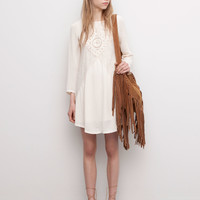 LACE DRESS WITH INSIDE LINING - DRESSES - WOMAN - PULL&BEAR United Kingdom