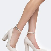 Emery Ankle Strap Block Heel