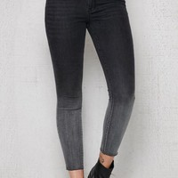 PacSun Black To Gray Ankle Jeggings at PacSun.com