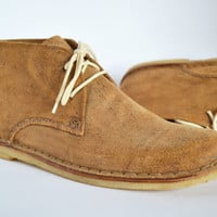 SAMPLE SALE 40% off - Ankle Boots Men  - Handmade in Curried leather