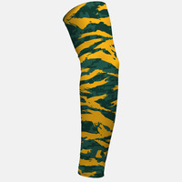 Digital Ripped camo green and yellow arm sleeve