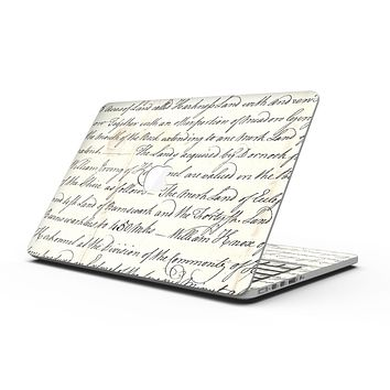 The 18th Century Script Pattern - MacBook Pro with Retina Display Full-Coverage Skin Kit