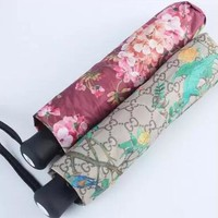 Gucci Stylish Women Men Print Folding Umbrella