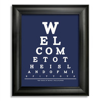 The Perks Of Being A Wallflower Eye Chart, Welcome To The Island Of Misfit Toys, 8 x 10 Giclee Print BUY 2 GET 1 FREE