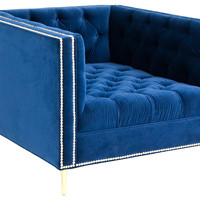 Deep Chair, Royal Blue, Club Chairs