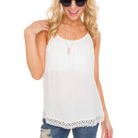 Malibu Lace Top in White