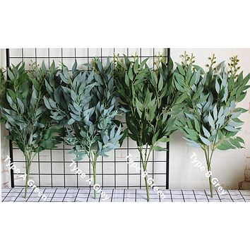 Artificial Willow Leaves Bouquet for Weddings 1pc Choose from 5 Colors Home Wreaths Crafts Decoration Foliage Plants FREE SHIPPING