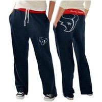 Houston Texans Ladies Recruit Fleece Pants – Navy Blue