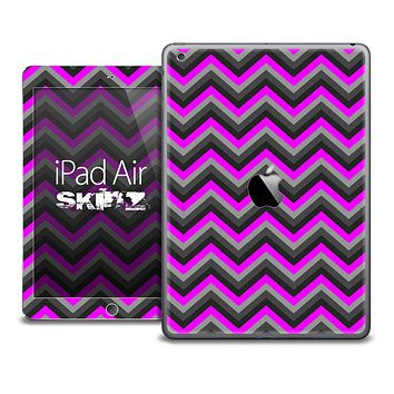 The Black and Hot Pink Chevron Skin for the iPad Air