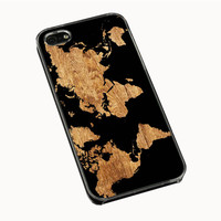 World Map Wood IPhone 5| 5S Cases