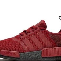 Adidas Nmd R1 Mems Size 9.5 Euro Release Only Rare Black Boost Red Authentic