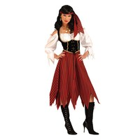 Pirate Maiden Costume - Adult (Black/Red)