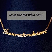 """""""love me for who I am"""" Statement Necklace   LilyFair Jewelry"""