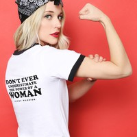 Power Of A Woman Ringer Tee - Tops - Clothes at Gypsy Warrior