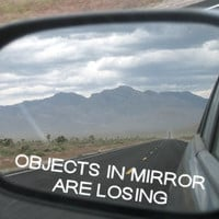 Objects in mirror are losing vinyl decal by MiddleburgTradingCo