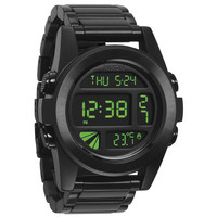 Nixon The Unit Ss Watch All Black/Green One Size For Men 20635717801