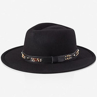 SOUTHWESTERN BEADED WOOL FEDORA HAT from EXPRESS