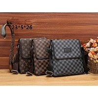 LV Fashionable Casual Leather Man Bag Man's Messenger Bag Shoulder Bag H-MYJSY-BB Tagre™