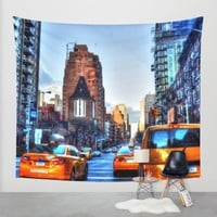 Downtown New York Wall Tapestry by Haroulita | Society6
