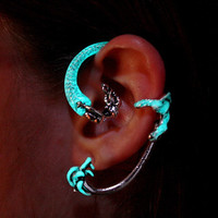 "Mermaid ear cuff clip ""GLOW in the DARK"