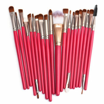 2017 20pcs Professional Makeup Brushes Set Foundation Powder Eyeshadow Make-up tools Toiletry Kit Wool Maquiagem Red