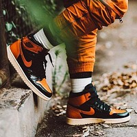 Nike AIR Jordan AJ1 basketball shoes lard buckle high-top shoes sports shoes men and women shoes all-match new sneakers sports shoes