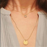 Shiny New Arrival Jewelry Gift Stylish Metal Sweater Chain Necklace [9377827975]
