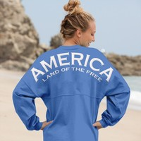 America Land of the Free - Classic Crew Neck Spirit Football Jersey®