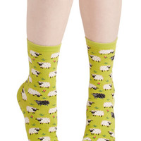 ModCloth Critters It's All Sheep to Me Socks