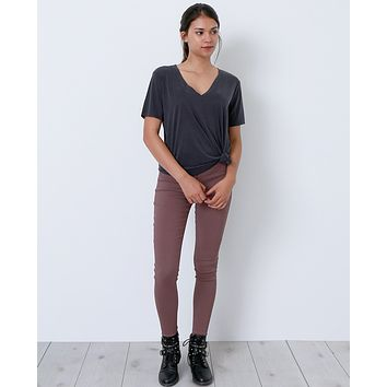 They Got It Right Stirrup Denim Jeggings - Mauve