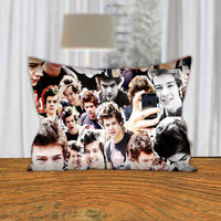 "PillowQ - Cool Harry Style Collage One Direction - Design for Pillow Cover 18""x18"" and 30""x20"" - Front Side Print or Full Side Print"